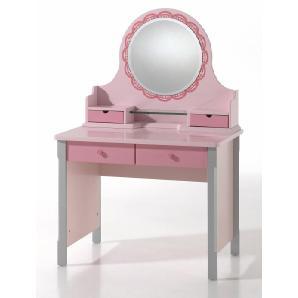 Schreibtisch »Cindy« rosa, mit Schubkästen, FSC®-zertifiziert, Vipack