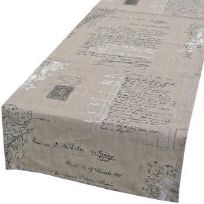 Schöner Leben Tischläufer Leinen Manuskript 40x160cm