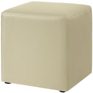 Polsterwürfel Cube - Kunstleder - Beige, meise möbel