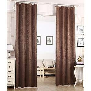 blickdichte vorh nge in braun preise qualit t vergleichen m bel 24. Black Bedroom Furniture Sets. Home Design Ideas