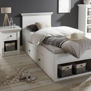 Home affaire Bett weiß, 90/200 cm, »California«, FSC®-zertifiziert