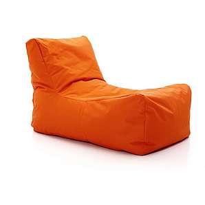 Sitzsack Lounge Orange, Designer Pusku pusku, 80x80x130 cm