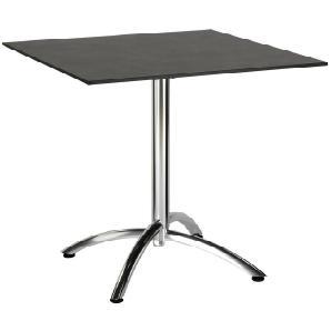 : Tisch, Anthrazit, Silber, B/H/T 80 73 80