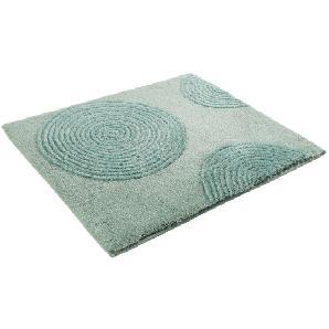 Badteppich Yoga - Kunstfaser - Petrol / Pistaziengrün - 55 x 65 cm, Esprit Home