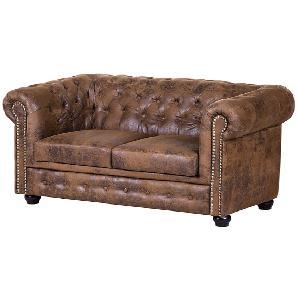 Sofa Torquay (2-Sitzer) - Antiklederoptik Braun, ars manufacti