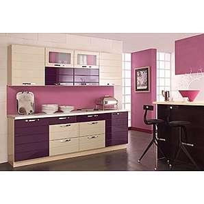 Komplett Küche 240 cm Schränke Küchenzeilen LAURA Hochglanz lackiert MDF Front