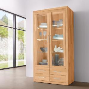 glasvitrinen aus holz preise qualit t vergleichen m bel 24. Black Bedroom Furniture Sets. Home Design Ideas