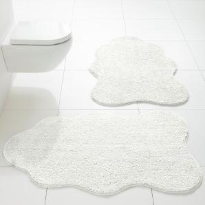 Damen Badematte, weiß, Gr. ca. 80/120 cm,  home
