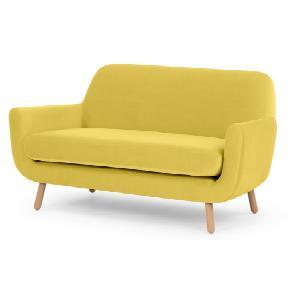 Jonah 2-Sitzer Sofa, Samt in Gelb
