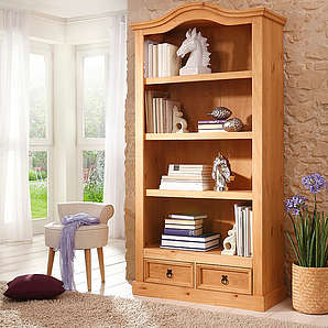 HOME AFFAIRE Bücherregal Mexico Breite 95 cm. natur