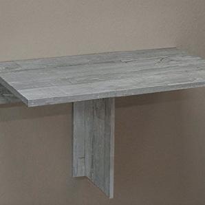 Klapp/80 0591_80 Beton Klapptisch Esszimmertisch Tisch klappbar 80 x 50 (8) cm