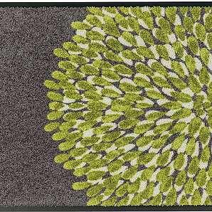 Fußmatte Broadway I - Kunstfaser - Grau / Pistaziengrün - 70 x 110 cm, Schöner Wohnen Kollektion