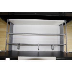 Fackelmann Ordnungssystem 13 cm Kara Aluminium pulverbeschichtet Grau