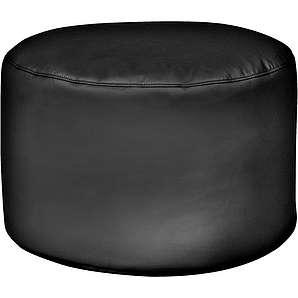 Sitzsack Drum, Kunstleder, schwarz