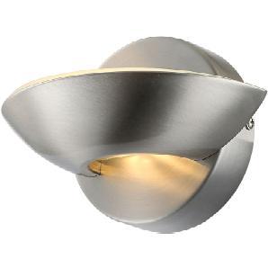EEK A+, LED-Wandleuchte Sammy - Metall - Matt Nickel, Globo Lighting