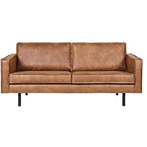 Lounge Sofa in Braun recycling Leder Pharao24