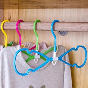 KKLL Kleiderbügel drehbar Stereo-Anti-Rutsch Kleiderbügel Reise Portable Nutzung Kleiderbügel Kleiderständer trocknende Kleidung Pol (Packung mit 10) , green