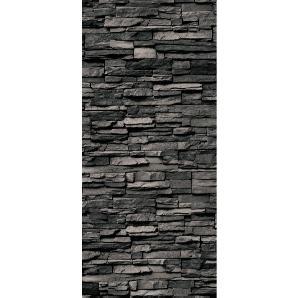 Schulte Duschrückwand Decodesign Dekor Stein Verblender Anthrazit 210 x 100 cm