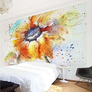 Bilderwelten Vliestapete Blumen Breit »Painted Sunflower«