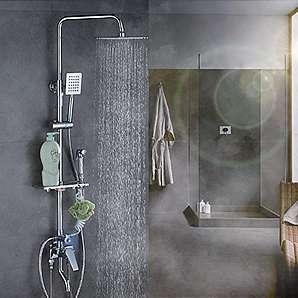 YFF@ILU Duschen Kit voll Kupfer Badewanne Dusche Wasserhahn Mischung aus warmen und kalten Wasser Ventil bad Sprinkler unter Druck stehende Dusche