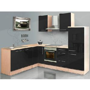 winkelk chen in schwarz preise qualit t vergleichen m bel 24. Black Bedroom Furniture Sets. Home Design Ideas