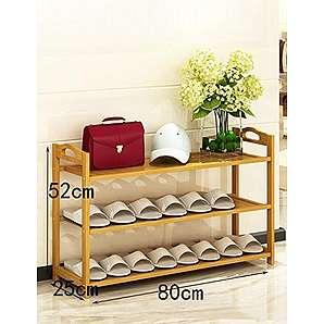 Bamboo einfacher Schuhgestell mehrstöckiger Schlafsaal Schuhrahmen wirtschaftliche Hausmontage staubdichter Massivholz Schuhgestell ( größe : 52cm )