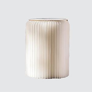 Kreatives Papier Klapphocker Haushalt Wohnzimmer Möbel Hocker Wohnzimmer Esszimmer Bar Eine Vielzahl von Farben sind verfügbar , white