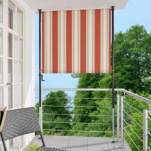 ANGERER FREIZEITMÖBEL Balkonsichtschutz »Nr. 9300«, rot/beige, in 2 Breiten