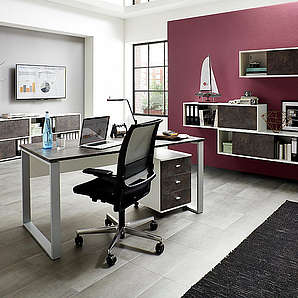 Büromöbel-Set Altino (2-tlg.) Germania weiß