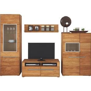 CANTUS: Wohnwand, Glas, Holz,Wildeiche, Eiche, B/H/T 283 205,1 55