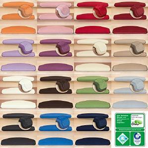 Kettelservice-Metzker® Stufenmatten Vorwerk Uni Halbrund 65x24x4cm Sparset Anthrazit 30 Stück
