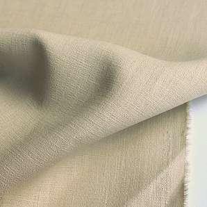 TOLKO® Leinenstoff Meterware in 27 Farben - Kleiderstoff / Dekostoff aus 100% LEINEN (Beige)