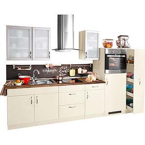 Küchenzeile mit Elektrogeräten Peru Breite 270 cm natur