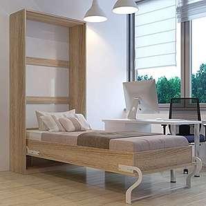 platzsparende schrankbetten klappbetten moebel24. Black Bedroom Furniture Sets. Home Design Ideas