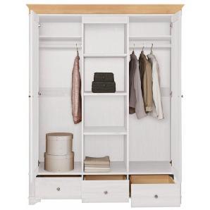 Home affaire Kleiderschrank »Lotta« weiß, Breite 160 cm, FSC®-zertifiziert