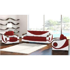 JUSTyou Puerto Wohnzimmerset Wohnzimmer Komplett Weiß Rot