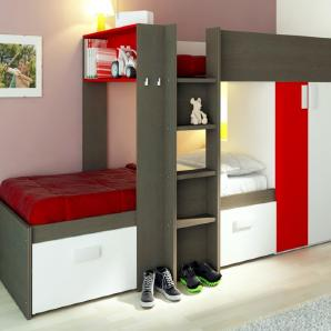 etagenbetten hochbetten f r kinder bei moebel24. Black Bedroom Furniture Sets. Home Design Ideas