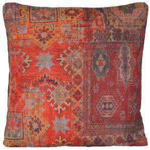 Rot Kissenbezug Ethnische Teppich Orange Kissen Zierkissen
