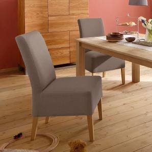 Home affaire Stuhl-Sets in verschiedenen Qualitäten bezogen »Rona« braun, 2er Set, Feinstruktur, FSC®-zertifiziert