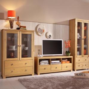 Home affaire Kiefer Schrankwand »Gotland«, natur, Landhaus Stil, FSC®-zertifiziert