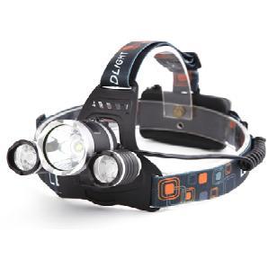 2x LED-Kopfleuchte mit 5000 Lumen in Schwarz/Orange