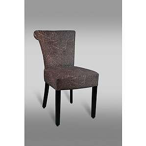 Stuhl Leblon 24 mit Stoffbezug, Farbe: Rot / Grau - Abmessungen: 85 x 45 x 49 cm (H x B x T)