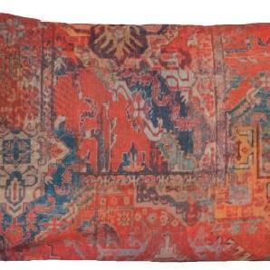 Rot Kissen Ethnische Teppich Orange Rechteck Kissenbezug Zierkissen