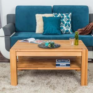 Couchtisch Buche Massivholz Farbe: Natur 50x105x65 cm Wohnzimmermöbel Wohnzimmereinrichtung