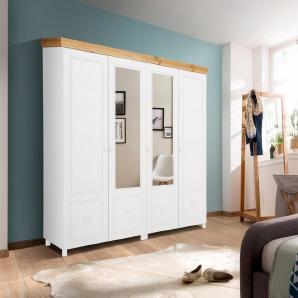Home affaire Drehtürenschrank », als 2-, 3-, 4-, 5- oder 6-türig, teilweise mit Spiegel« weiß, 4-türig: 190 cm, FSC®-zertifiziert