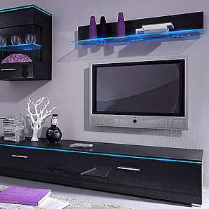 TV-Lowboard Breite 120 cm oder 180 cm schwarz