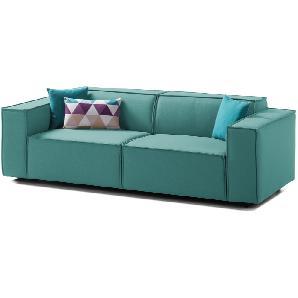 Sofa Kinx (2,5-Sitzer) Webstoff - Keine Funktion - Stoff Osta Petrol, Kinx