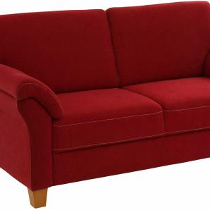 Home affaire Dreisitzer mit Federkern, rot, B/H/T: 186x46x54cm »Borkum«, FSC®-zertifiziert
