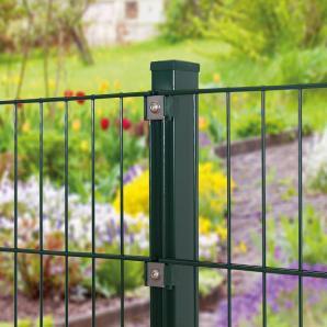 PEDDY SHIELD Zaunpfosten , für Einzel- und Doppelstabmatten grün, in 3 Höhen