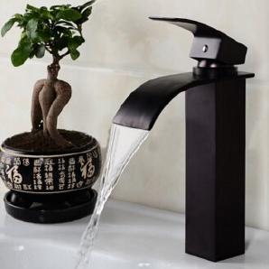 TougMoo Einzigen Griff Waschbecken Wasserhahn Behälter Edelstahl  Waschbecken Mischbatterien, Hohe Schwarze Hahn